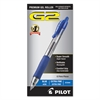 Pilot G2 Premium Retractable Gel Ink Pen, Refillable, Blue Ink, .5mm, Dozen