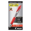 Pilot G2 Premium Retractable Gel Ink Pen, Refillable, Red Ink, .5mm, Dozen