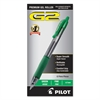 Pilot G2 Premium Retractable Gel Ink Pen, Refillable, Green Ink, .7mm, Dozen