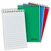 Ampad Wirebound Pocket Memo Book, Narrow, 6 x 4, White, 40 Sheets, 3/Pack