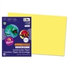 Pacon Riverside Construction Paper, 76 lbs., 12 x 18, Yellow, 50 Sheets/Pack