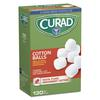 "Curad Sterile Cotton Balls, 1"", 130/Box"