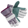 Memphis Economy Leather Palm Gloves, X-Large, Striped, Pair