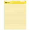 Post-it Self Stick Easel Pads, Ruled, 25 x 30, Yellow, 2 30 Sheet Pads/Carton