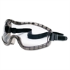 Crews Stryker Safety Goggles, Chemical Protection, Black Frame