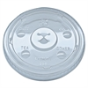 Kal-Clear/Nexclear Drink Cup Lids, F/12-24 oz Cups, Clear, Plastic,1000/Carton