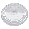 Portion Cup Lids, Fits 3.25-5.5oz Cups, Clear, 2500/Carton