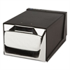 Countertop Napkin Dispenser, 7 5/8 x 11 x 5 1/2, Capacity: 300 Napkins, Black