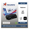 Triumph 751000NSH1319 Remanufactured CF280X (80X) High-Yield Toner, Black