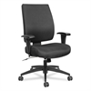 Wrigley Series High Performance Mid-Back Synchro-Tilt Task Chair, Black