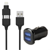strikeDRIVE Dual Car Charger, Black