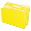 Interior File Folders, 1/3 Cut Top Tab, Legal, Yellow, 100/Box