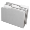 Interior File Folders, 1/3 Cut Top Tab, Legal, Gray, 100/Box