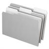 Interior File Folders, 1/3 Cut Top Tab, Legal, Gray, 100/Box