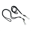 "Lanyard, J-Hook Style, 22"" Long, Black, 12/Pack"