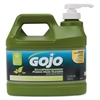 GOJO Ecopreferred Pumice Hand Cleaner, 1/2 Gal Pump Bottle, Lime Scent, 4/Carton