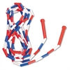 s Segmented Plastic Jump Rope, 16ft, Red/Blue/White