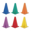 Champion Sports Indoor/Outdoor Flexible Cone Set, Vinyl, Assorted Colors, 6/Set