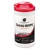 "Sani-Wipe Sanitizing Wipes, 7 3/4"" x 10 1/2"", White, 100/Can, 6 Cans/Carton"