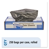 100% Recycled Plastic Garbage Bags, 7-10gal, 1mil, 24 x 24, Brown/Black, 250/CT