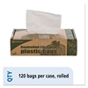 Controlled Life Cycle Trash Garbage Bag, 13gal, .70 mil, 24x30, White, 120/Box