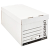 "Storage Box Drawer Files, Letter, Fiberboard, 12"" x 24"" x 10"", White, 6/Carton"