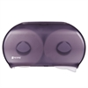"Twin 9"" Jumbo Tissue Dispenser, 19 x 5 1/4 x 12, Transparent Black Pearl"