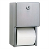 Stainless Steel Two-Roll Tissue Dispenser, 6 1/4w x 6d x 11h, Stainless Steel