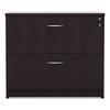 Valencia Series Two Drawer Lateral File, 34w x 22 3/4d x 29 1/2h, Espresso