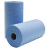 Tuff-Job Scrim Reinforced Wipers, 9 3/4 x 275 ft, Blue, 6 Rolls/Carton