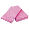 Busboy Durable Foodservice Towels, Pink/White, 12 x 24, 200/Carton