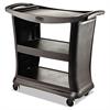 Executive Service Cart, Three-Shelf, 20-1/3w x 38-9/10d, Black
