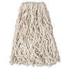"Economy Cut-End Cotton Wet Mop Head, 20oz, 1"" Band, White, 12/Carton"