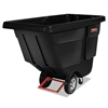 Rotomolded Tilt Truck, Rectangular, Plastic, 450-lb Cap., Black