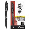 FriXion Ball Erasable Gel Ink Stick Pen; Black Ink; .7mm, Dozen