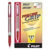 Precise Grip Roller Ball Stick Pen, Red Ink, 1mm