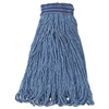 Universal Headband Mop Head, Cotton/Synthetic, 24oz, Blue, 12/Carton