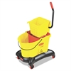 Wavebrake 35 Qt Dual Water Side Press Mop Bucket & Wringer, Yellow