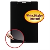"""Justick Frameless Electro-Surface Dry-Erase Board w/Clear Overlay, 16"""" x 24"""", BK"""