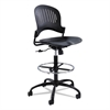 Zippi Plastic Extended-Height Chair, Black