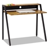 Writing Desk, 37 3/4 x 22 3/4 x 34 1/4, Natural/Black