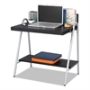 Xpressions Computer Workstation, 32w x 21d x 34 1/4h, Ebony/Silver