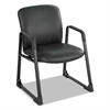 Uber Series Big & Tall Sled Base Guest Chair, Vinyl, Black