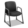 Uber Series Big & Tall Sled Base Guest Chair, Black