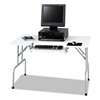 Folding Computer Table, Rectangular, 47 1/2w x 29 3/4d x 28 3/4h, Light Gray