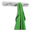 Nail Head Wall Coat Rack, Three Hooks, Metal, 18w x 2-3/4d x 2h, Satin Aluminum