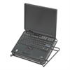 Onyx Adjustable Steel Mesh Laptop Stand, 12 1/4 x 12 1/4 x 1, Black