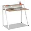 Writing Desk, 37 3/4 x 22 3/4 x 34 1/4, Beech/White