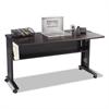 Mobile Computer Desk W/Reversible Top, 53.5 x 28 x 30, Mahogany/Medium Oak/Black