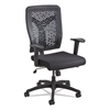 Voice Series Task Chair, Plastic Back, Upholstered Seat, Black Seat/Back
